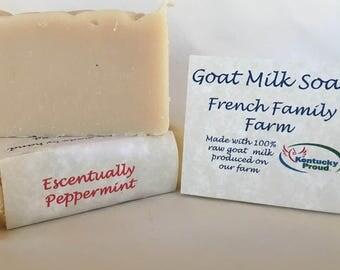 Escentually Peppermint Goat Milk Soap