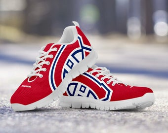 Montreal Canadiens Fan Custom Running Shoes/Sneakers/Trainers - Ladies + Mens Sizes fan, collector, gift
