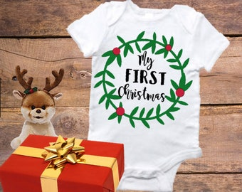 First Christmas Onesie, My First Christmas, baby onesie