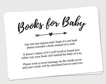 Books for Baby Printable | Tribal Woodland Theme | Baby Shower Invitation Insert | Book Request Cards
