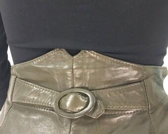 80s leather parachute pants, 1980s leather pants