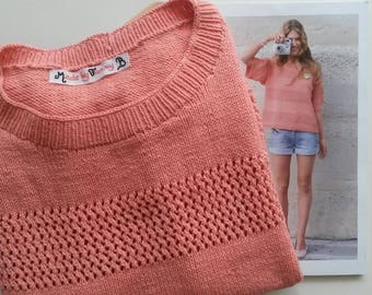 Sweater color sorbet/coral size 38