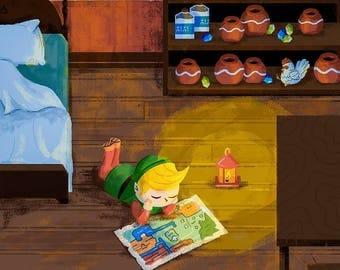 Link's House / Nintendo / Illustration / Art Print