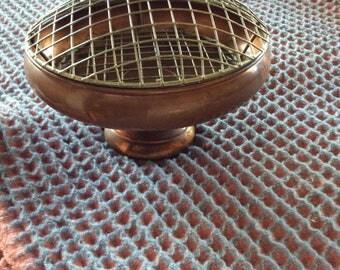 Rose bowl, copper rose bowl