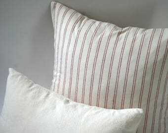 Henry Rust & Dixon Cream // Decorative Throw Pillow 18x18 + 10 Other Sizes // Sofa Pillow Covers // Rust Colored Pillows