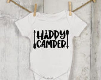 Happy Camper®, Funny Onesies®, Funny Bodysuits, Baby, Baby Clothing, Baby Boy, Baby Girl, Baby Gift, Baby Shower, Baby Announcement