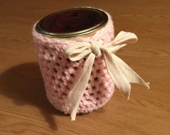 Cute Pink Jar Holder