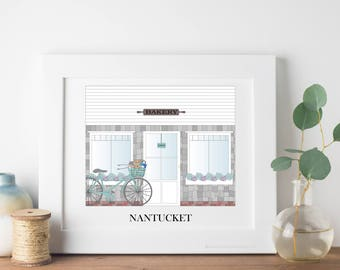 Nantucket Travel Art Print - Bakery