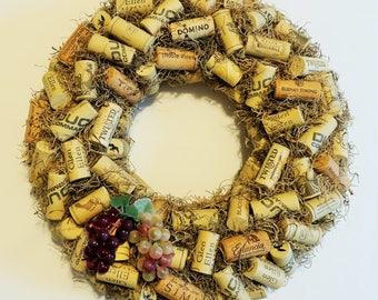 "14"" Wine Cork Christmas Wreath"