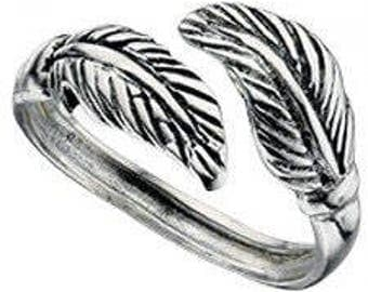 925 solid Sterling Silver Double Leaf Toe Ring