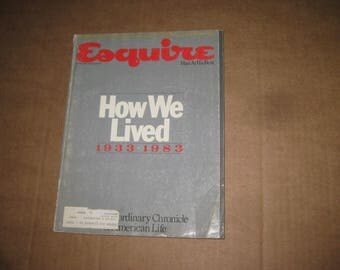 Esquire magazine back issue dated 1983    [c4840o]