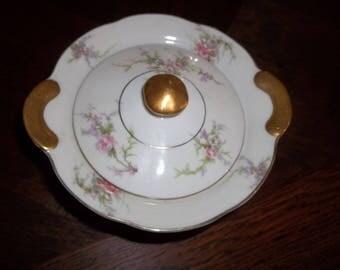 Theodore Haviland china NY Rosalinde Floral Sugar Bowl w/ Lid
