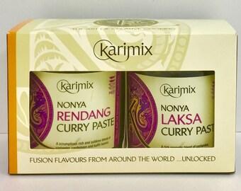 Karimix Nonya Rendang and Laksa Curry Paste Twin Gift Set