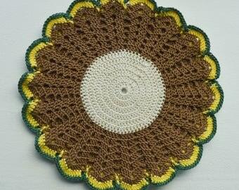 Crochet Home Decor, Mother's Day Gift, Crochet Pot Stand, Pot Holder, Potholder, Hot Pad, Oven Mitt, Gift For Her, Home Gift, Gift For Wife