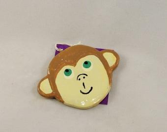 Monkey Face Ornament