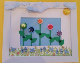 Flowers and Birds Wall Hanging
