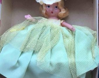 1940's  NANCY ANN Story Book Doll #171-Daffy Down Dilly, MIB 5.5'' Tall-Storybook Series