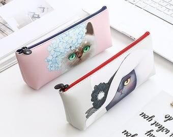 Cat lady stationary pencil bag