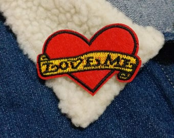 Love Me Patch, Iron on Patch