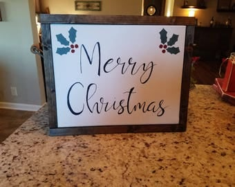 Farm House Merry Christmas Sign