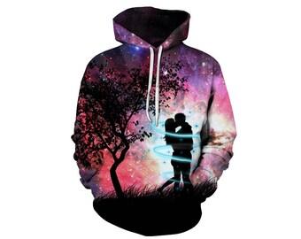 Galaxy Hoodie, Galaxy Sweatshirt, Galaxy, Galaxy Jumper, Galaxy Hoodies, Space, Space Hoodie, 3d Hoodie, 3d Hoodies, Hoodie - Style 53