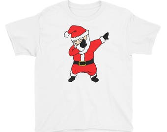 Funny Dabbing Santa Claus Holiday T-shirt