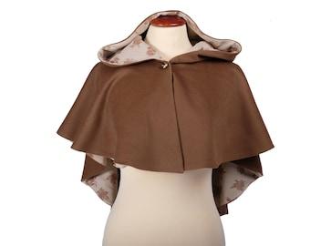 Asymmetric Hooded Cape Asymmetrical