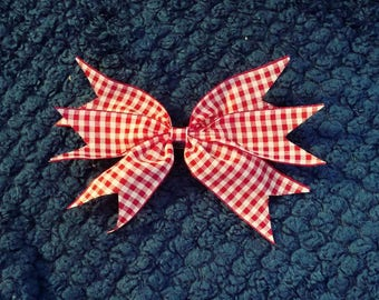Red Gingham Hairbow