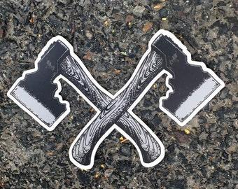Dual Hatchet Sticker