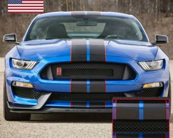 2015 2016 2017 2018 Ford Mustang Racing Rally Stripes Le Mans Decal 7""