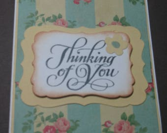 Flowered thinking of you card