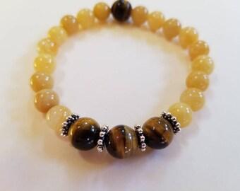 Tiger Eye and Yellow Jade