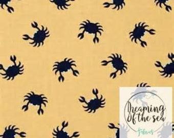 Dear Stella Crabs Fabric // Quilting Cotton // Cotton Woven // 100% cotton // Crabs Fabric