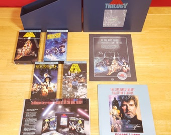 Star Wars Trilogy VHS 1992 Special Letterbox Collectors Edition Box Set Complete