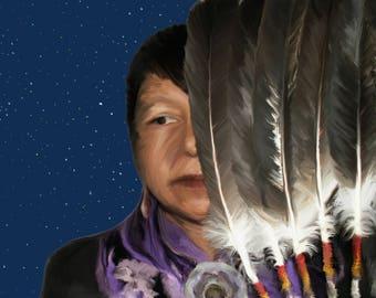 Truth of Spirit by Native American Artist Print of Original