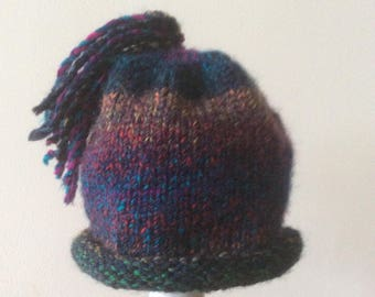Baby hand knitted hat