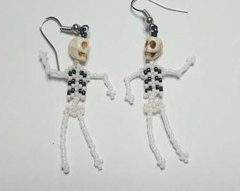 Dancing Skeletons Halloween Earrings