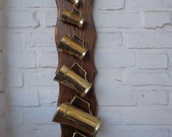 Beer Carafe Vintage set of 6 | Brass made carafe | Home decor | Wall Display