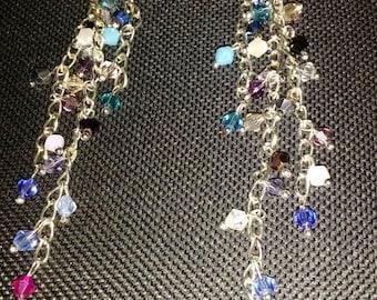 Awesome Shiny Long Multi Color Dangles Earrings