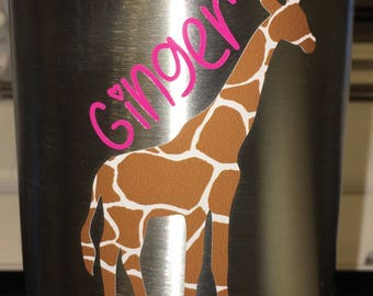 Vinyl giraffe decal