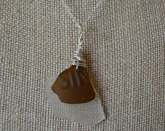 SIN- Brown and Clear Sea Glass