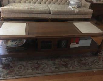 Wood & Marble Coffee Table
