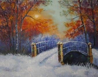 WINTER Oil Painting Original