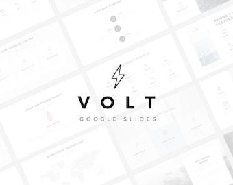 Volt Minimal Google Slides Template