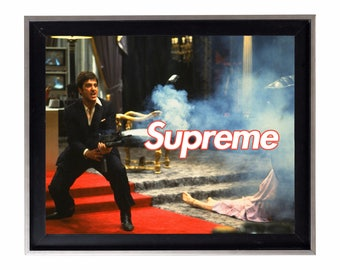 "Supreme Scarface ""Say Hello To My Little Friend"" Poster or Art Print"