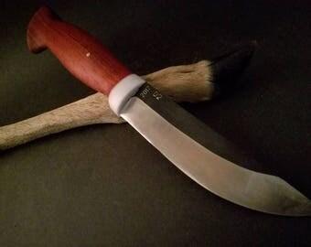 OMEGA KNIVES - Custom Traditional Hunter, D2 steel, Tropical Badauk Wood Handle