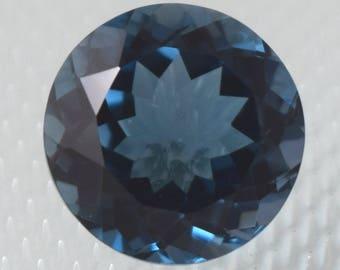 NATURAL A++ QUALITY London Blue Topaz 7MM Round Cut Loose Gemstone BT-02