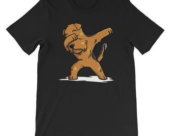 Cute Dabbing Airedale Terrier T-Shirt Funny Dog Gift