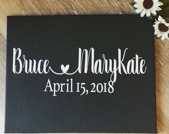 Wedding sign with Date - Save the Date Sign - Engagement Sign - Wedding Announcement - Wedding Photo Prop Sign