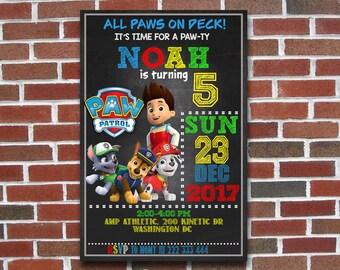 Paw Patrol,Paw Patrol Invitation,Paw Patrol Birthday,Paw Patrol Party,Paw Patrol Birthday Invitation,Paw Patrol Party Invitation